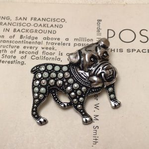 Vintage Bulldog Pin